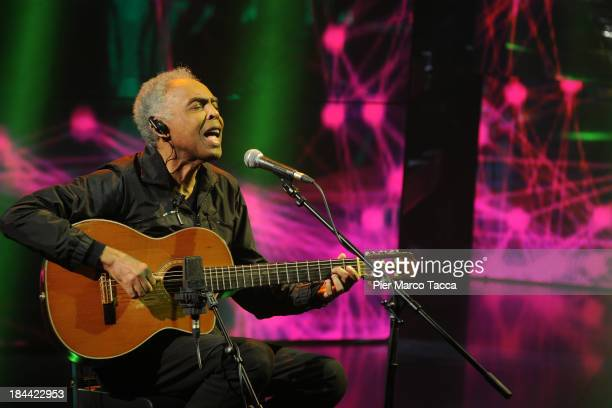 Singer Gilberto Gil attends Che Tempo Che Fa TV show on October 13 2013 in Milan Italy