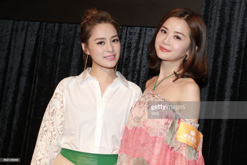 Singer Gillian Chung (L) and actress and singer Charlene Choi attend emperor motions pictures press conference as part of Hong Kong International Film and TV Market on March 14, 2017 in Hong Kong, China.