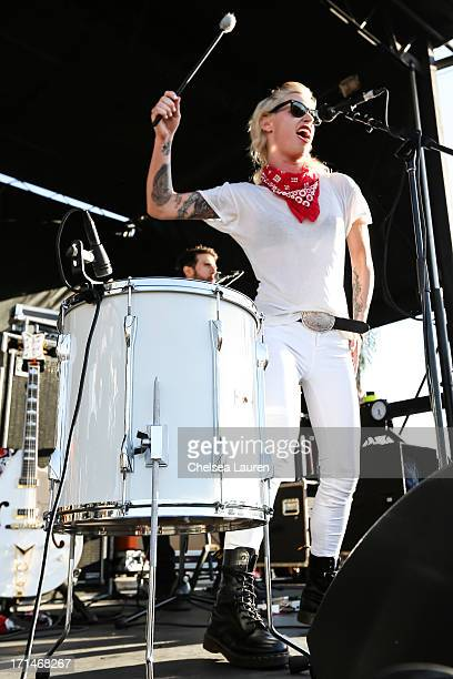 Singer Gin Wigmore performs at the Vans Warped Tour at the Cricket Wireless Amphitheater on June 19 2013 in Chula Vista California