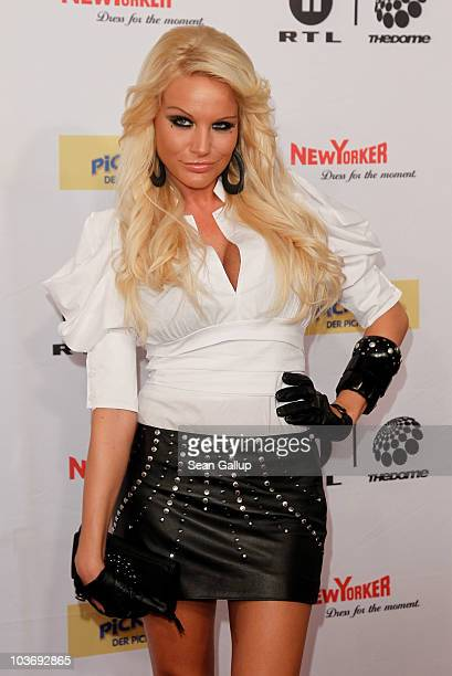 Singer Gina Lisa attends The Dome 55 on August 27, 2010 in Hannover, Germany.