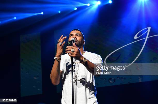 Singer Ginuwine performs in concert during 90's Block Party at Fox Theater on April 27 2018 in Atlanta Georgia