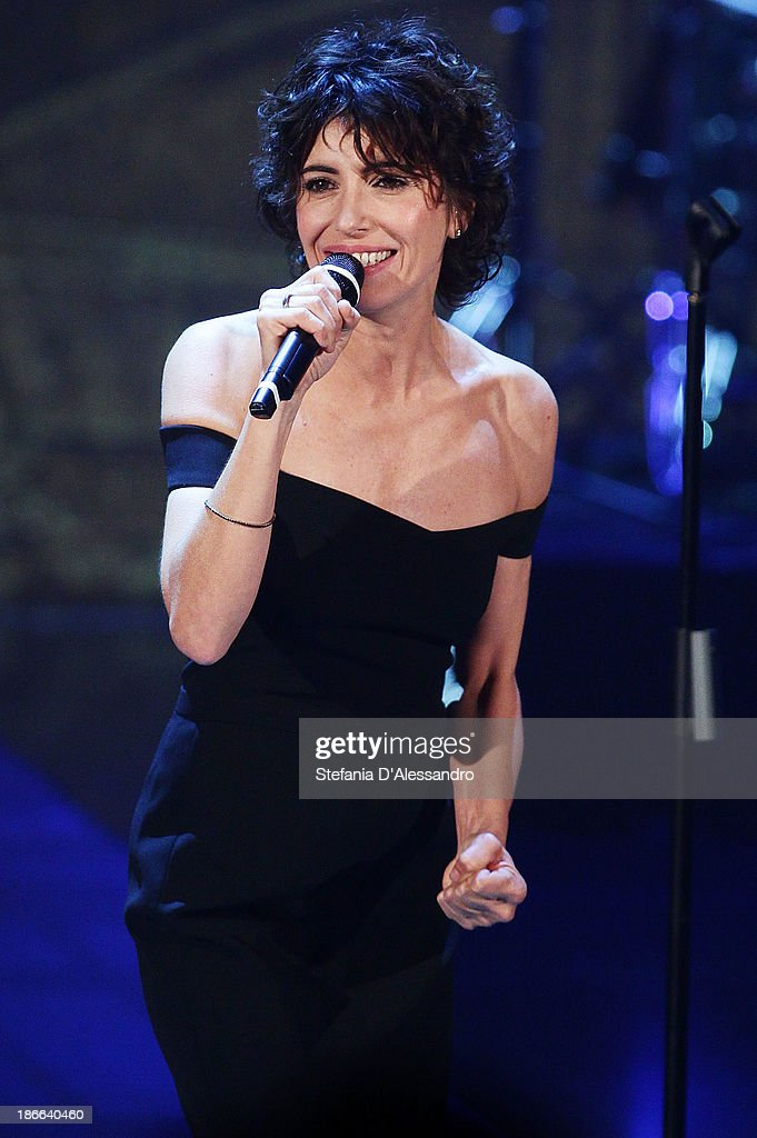 Singer Giorgia performs at 'Che Tempo Che Fa' TV Show on November 2, 2013 in Milan, Italy.