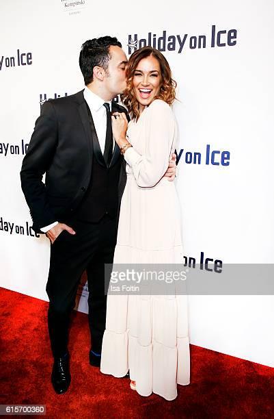 Singer Giovanni Zarrella and his wife brazilian model Jana Ina Zarrella attends the 'Holiday on Ice' gala at Hotel Atlantic on October 19, 2016 in...