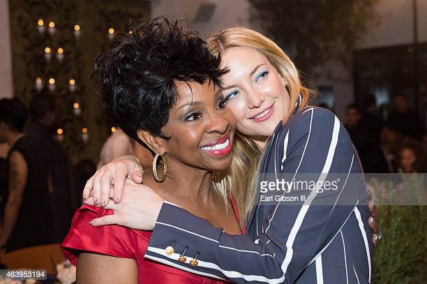 Singer Gladys Knight and Actress Kate Hudson attend the Uptown PreOscar Gala honoring Lee Daniels at Fig Olive Melrose Place on February 19 2015 in...