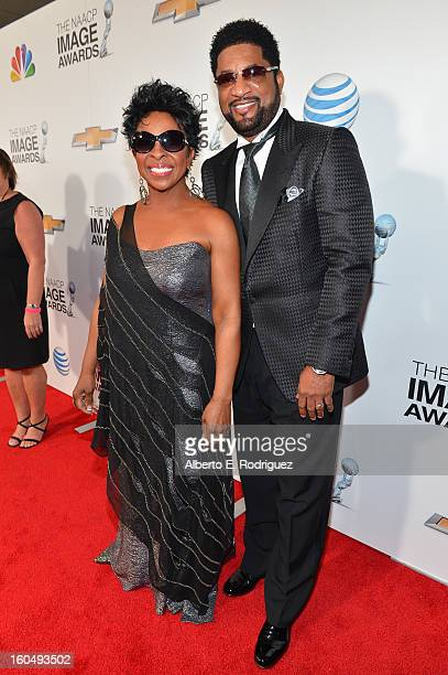 Singer Gladys Knight and William McDowell attend the 44th NAACP Image Awards at The Shrine Auditorium on February 1 2013 in Los Angeles California
