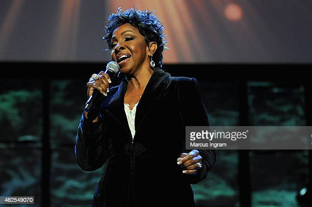 Singer Gladys Knight performs at the 16th Annual Super Bowl Gospel Celebration at ASU Gammage on January 30 2015 in Tempe Arizona