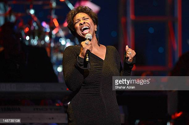 Singer Gladys Knight performs at the 7th annual Apollo Spring Gala Benefit at The Apollo Theater on June 4 2012 in New York City