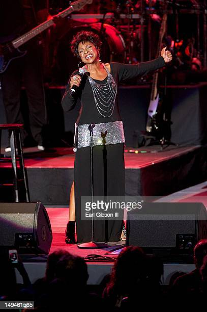 Singer Gladys Knight performs at The Greek Theatre on July 28 2012 in Los Angeles California