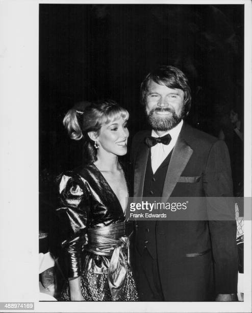 Singer Glen Campbell with girlfriend Kim Woolins at the American Music Awards at the Los Angeles Shrine Auditorium, California, January 1982.