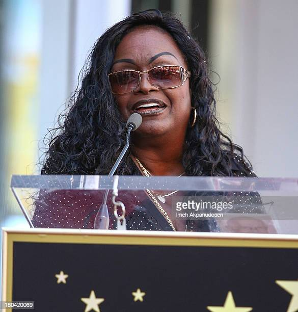 Singer Glodean White speaks onstage as the late Barry White was honored posthumously with a star on the Hollywood Walk of Fame on September 12 2013...