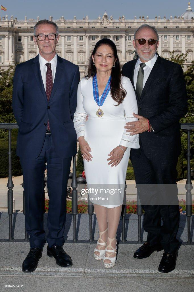 Gloria Estefan Receives The Golden Medals To The Merit In Fine Arts