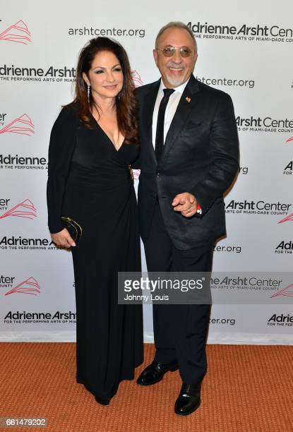 Singer Gloria Estefan and producer Emilio Estefan attend the 11th Season Gala ConcertA Celebration of Women in the Arts at The Adrienne Arsht Center...