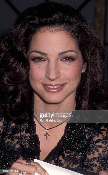 Singer Gloria Estefan attending 'Taping of the Joan Rivers Show' on October 28 1992 at CBS Broadcasting Center in New York City New York
