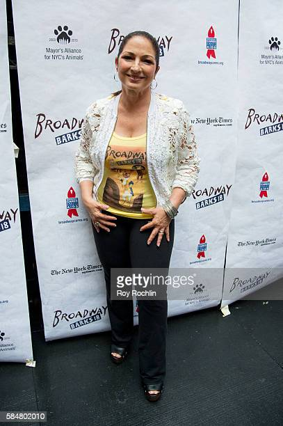 Singer Gloria Estefan attends 18th Annual Broadway Barks at Shubert Alley on July 30 2016 in New York City