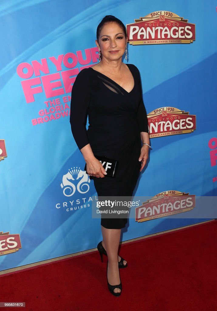 Singer Gloria Estefan attends a celebration of the Los Angeles engagement of 'On Your Feet!', the Emilio and Gloria Estefan Broadway musical, at the Pantages Theatre on July 10, 2018 in Hollywood, California.