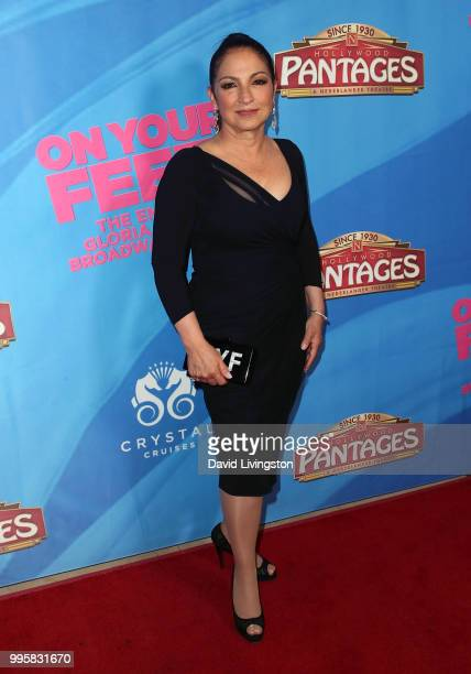 Singer Gloria Estefan attends a celebration of the Los Angeles engagement of On Your Feet the Emilio and Gloria Estefan Broadway musical at the...