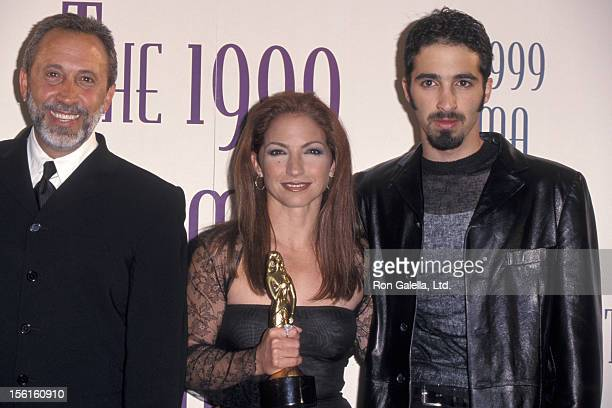 Singer Gloria Estefan husband Emilio Estefan and son Nayib Estefan attending Fourth Annual American Latino Media Arts Awards on April 11 1999 at...