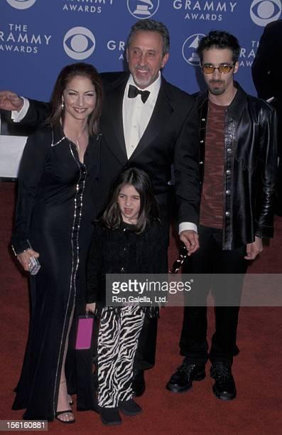 Singer Gloria Estefan husband Emilio Estefan son Nayib Estefan and daughter Emily Estefan attending 43rd Annual Grammy Awards on February 21 2001 at...