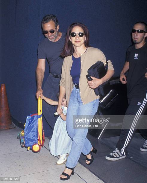 Singer Gloria Estefan husband Emilio Estefan son Nayib Estefan and daughter Emily Estefan being photographed on June 18 1997 at Los Angeles...