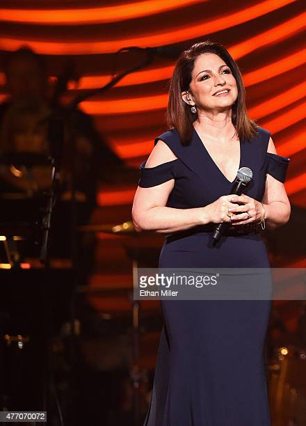 Singer Gloria Estefan performs during the 19th annual Keep Memory Alive Power of Love Gala benefit for the Cleveland Clinic Lou Ruvo Center for Brain...