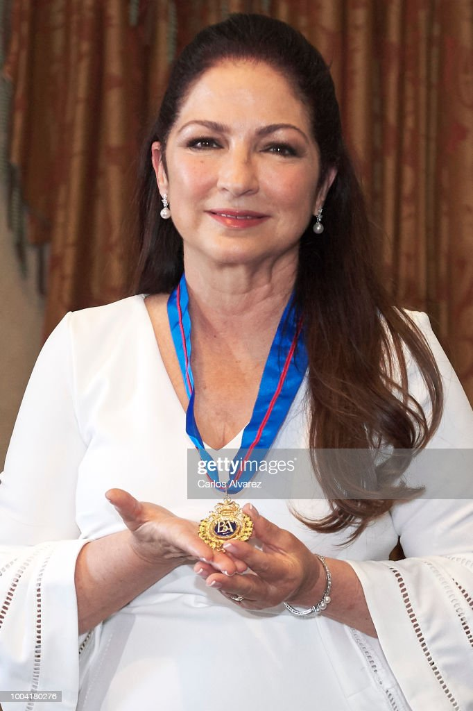 Singer Gloria Estefan receives the Golden Medal to the Merit in Fine Arts at the Royal Theater on July 23, 2018 in Madrid, Spain.