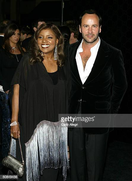 Singer Gloria Gaynor and designer Tom Ford arrives for his award for the 'Rodeo Walk of Style' Award on Rodeo Drive March 28 2004 in Beverly Hills...