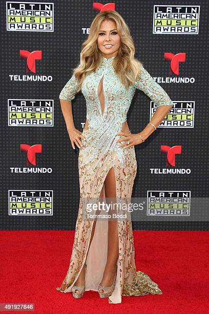 Singer Gloria Trevi attends the Telemundo's Latin American Music Awards 2015 held at Dolby Theatre on October 8 2015 in Hollywood California