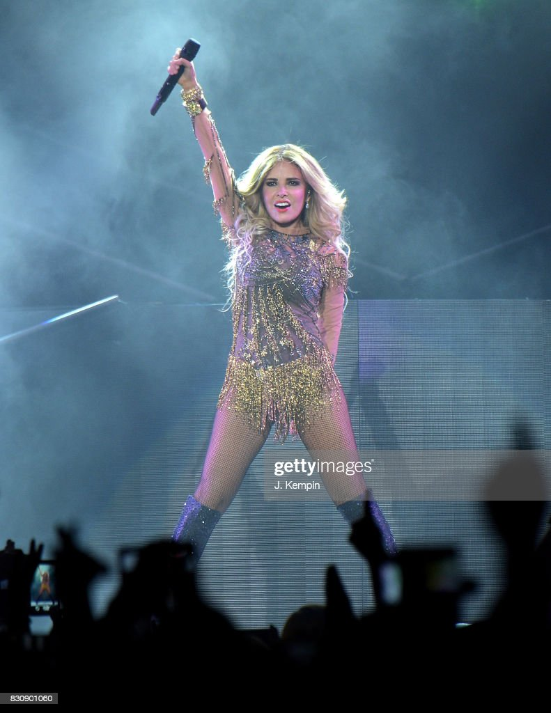 Singer Gloria Trevi performs at Madison Square Garden on August 12, 2017 in New York City.