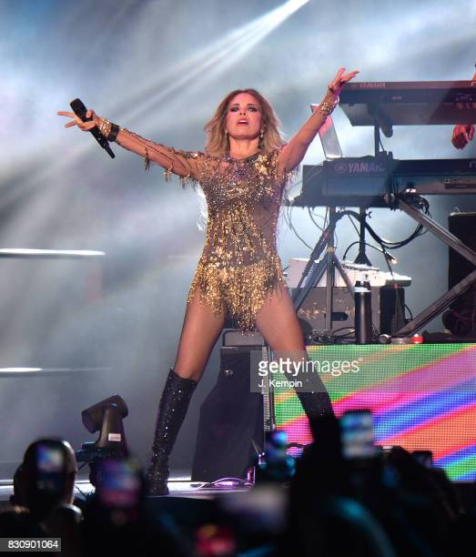 Singer Gloria Trevi performs at Madison Square Garden on August 12 2017 in New York City