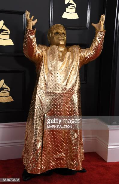 Singer Gnarly Davidson arrives for the 59th Grammy Awards on February 12 in Los Angeles California / AFP / Mark RALSTON