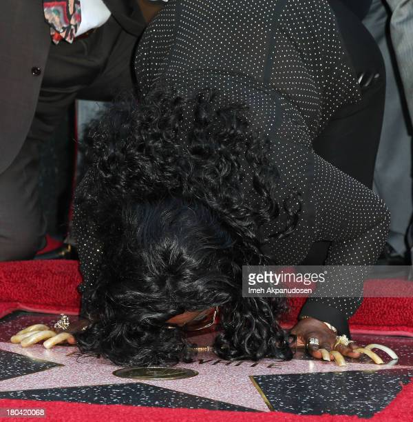 Singer Goldean White attends the late Barry White's posthumous honoring of a star on the Hollywood Walk of Fame on September 12 2013 in Hollywood...