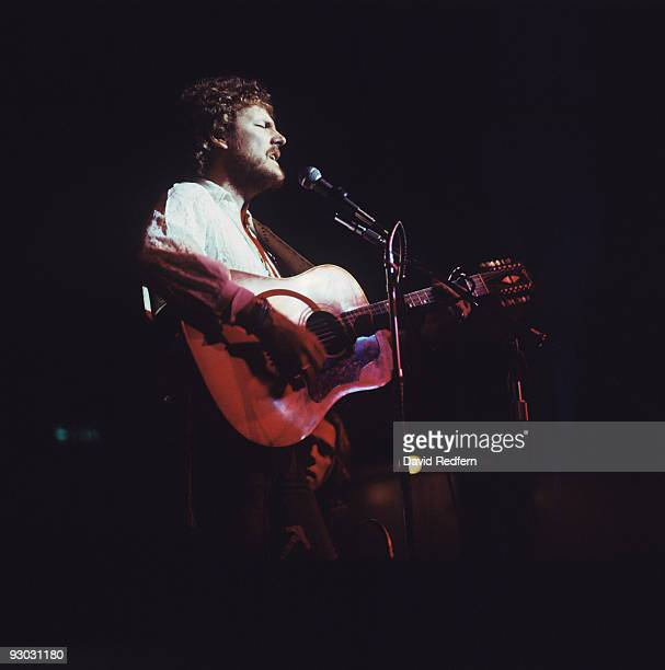 Singer Gordon Lightfoot performs on stage at the Royal Albert Hall in London England in 1973