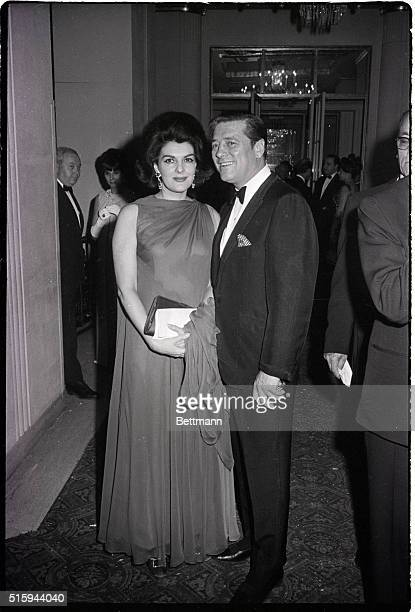 Singer Gordon MacRae with his wife Elizabeth at the April in Paris ball at the WaldorfAstoria Photograph