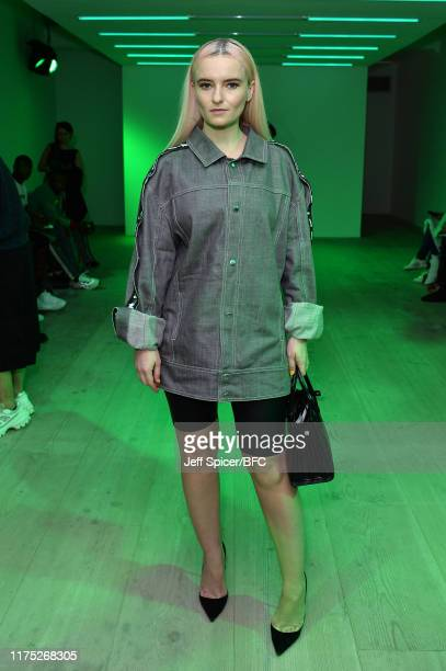 Singer Grace Chatto attends the Bobby Abley show during London Fashion Week September 2019 at the BFC Show Space on September 17 2019 in London...
