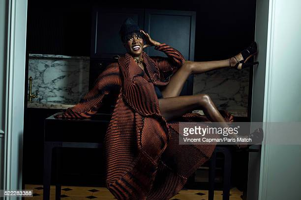 Singer Grace Jones is photographed for Paris Match on March 16 2016 in Paris France