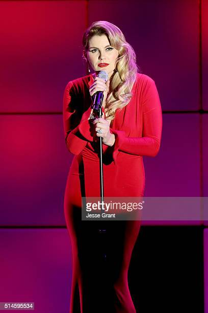 Singer Grace Potter performs onstage during the 24th and final A Night at Sardi's to benefit the Alzheimer's Association at The Beverly Hilton Hotel...
