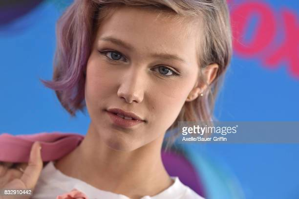 Singer Grace VanderWaal arrives at the Teen Choice Awards 2017 at Galen Center on August 13 2017 in Los Angeles California