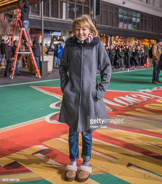 Singer Grace VanderWaal attends the 90th anniversary Macy's Thanksgiving day parade rehearsals at Macy's Herald Square on November 22 2016 in New...