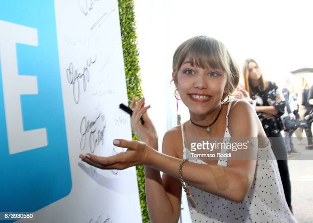 Singer Grace VanderWaal attends WE Day California to celebrate young people changing the world at The Forum on April 27 2017 in Inglewood California
