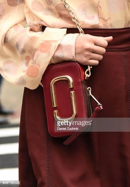 Singer Grace VanderWaal bag detail is seen outside the Marc Jacobs show during New York Fashion Week Women's S/S 2018 on September 13 2017 in New...