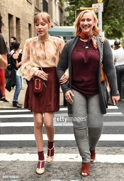 Singer Grace VanderWaal is seen outside the Marc Jacobs show during New York Fashion Week: Women's S/S 2018 on September 13, 2017 in New York City.