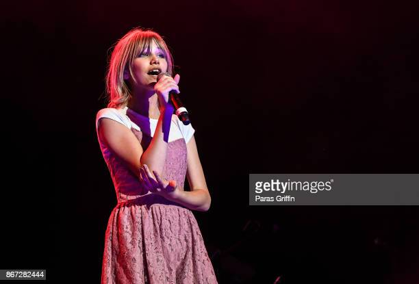 Singer Grace VanderWaal performs in concert during Q100's QTopia at Verizon Wireless Amphitheater on October 27 2017 in Alpharetta Georgia