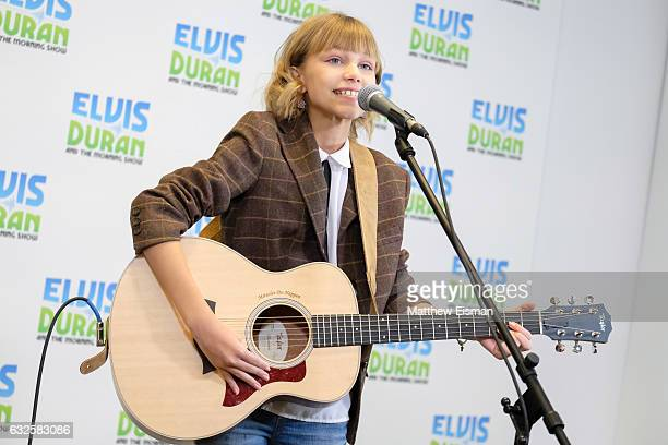 Singer Grace VanderWaal performs live during 'The Elvis Duran Z100 Morning Show' at Z100 Studio on January 24 2017 in New York City