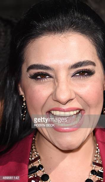 Singer Graciela Beltran attends the ceremony honoring Spanishlanguage radio personality Renán Almendárez Coello 'El Cucuy de la Manana' with a star...