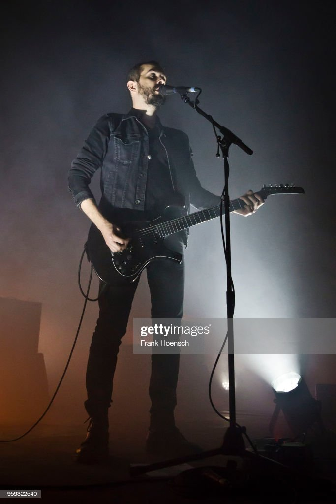 Singer Greg Gonzalez of the American band Cigarettes After Sex performs live on stage during a concert at the Columbiahalle on May 16, 2018 in Berlin, Germany.