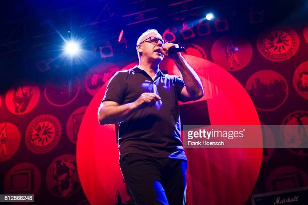 Singer Greg Graffin of the American band Bad Religion performs live on stage during a concert at the Huxleys on July 11 2017 in Berlin Germany