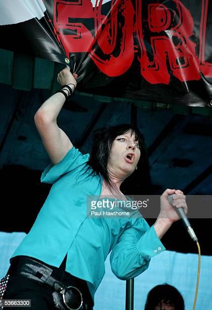 """Singer Greg Prevost for the band """"Chesterfield Kings"""" performs on stage during the """"Save CBGB's"""" rally hosted by Steven Van Zandt in Washington..."""