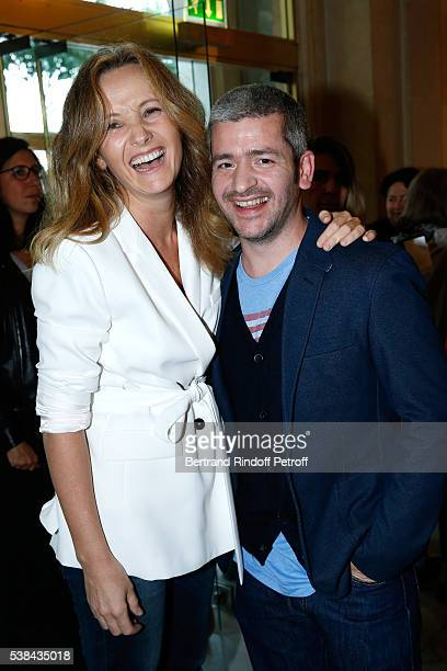 Singer Gregoire and his wife Eleonore de Galard attend the Concert of Patrick Bruel at Theatre Du Chatelet on June 6 2016 in Paris France