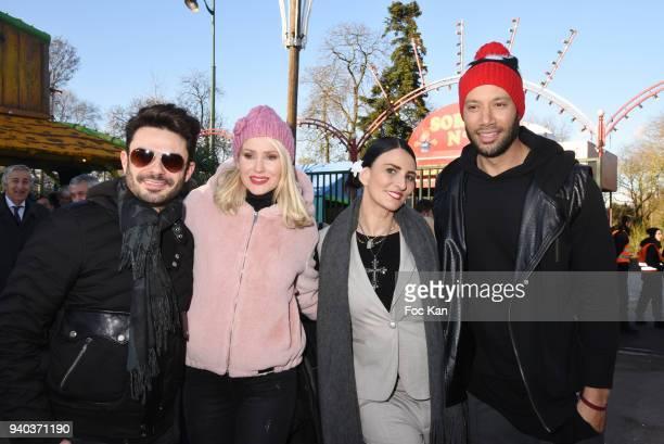 Singer Gregory Bakian Tatiana Laurens Delarue model/writer Sylvie Ortega Munos and Xavier Delarue attend the Foire du Trone Opening At Pelouse de...