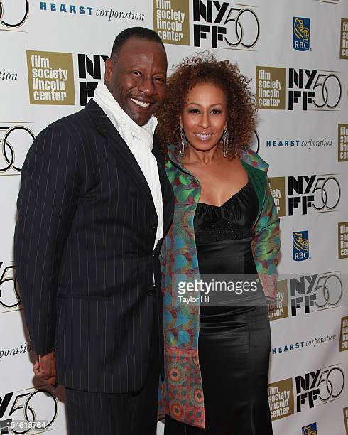 Singer Gregory Generet and wife Tamara Tunie attend the closing night gala screening of Flight during the 50th New York Film Festival at Alice Tully...